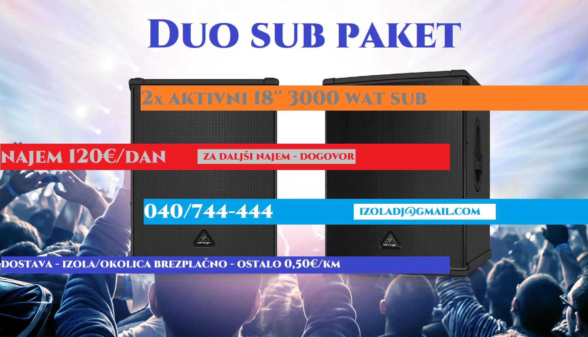 Duo Sub Paket